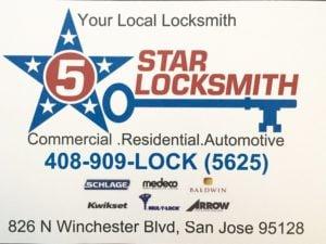 5 Star Locksmith San Jose